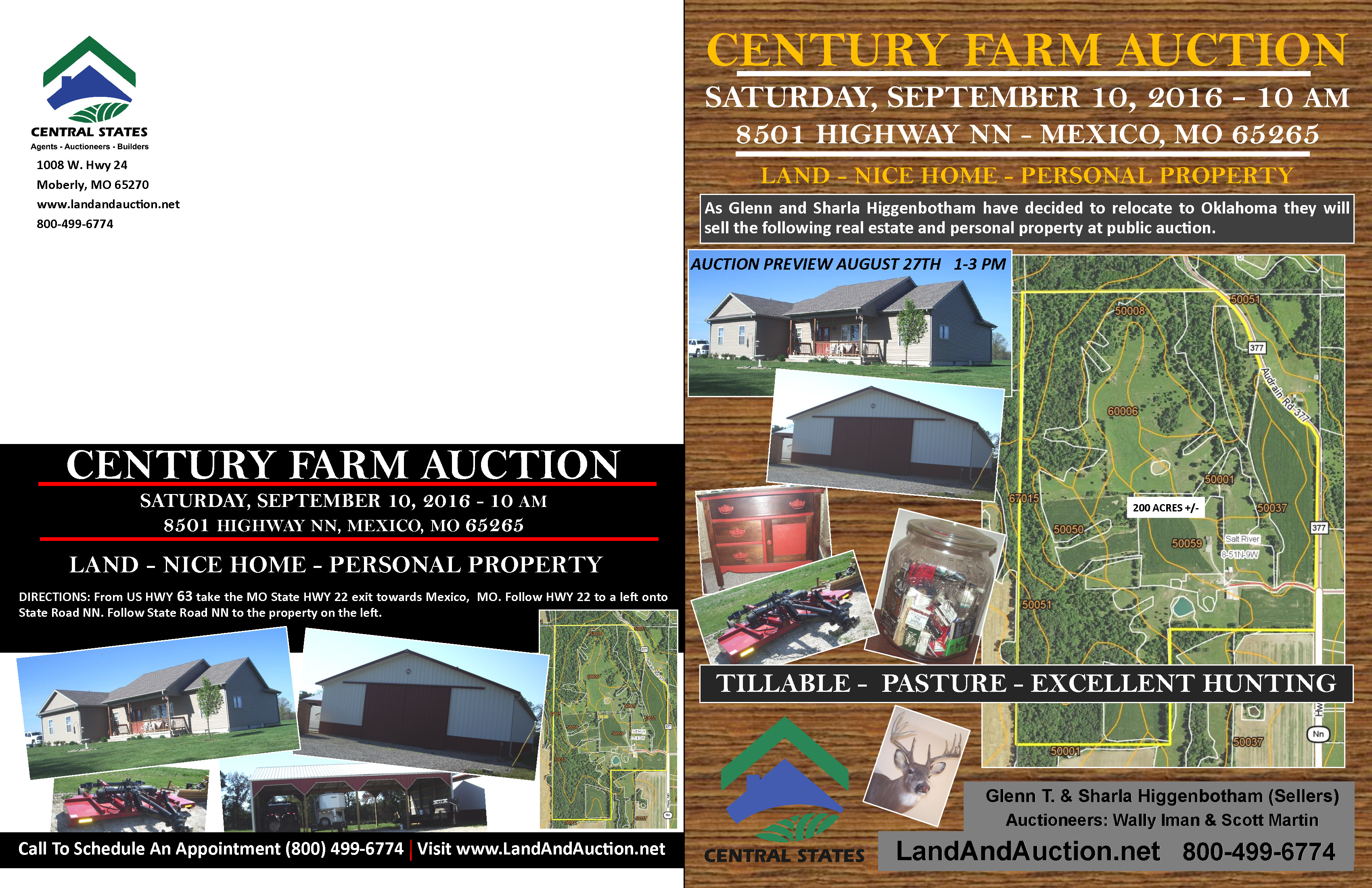 CENTURY FARM AUCTION – REAL ESTATE & PERSONAL PROPERTY